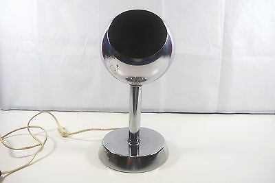 Vtg Chrome Mid Century Eye Ball Eyeball Floor Desk Table Light Lamp