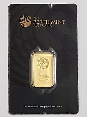 Perth Mint 10G (10 Gram) 24Ct Purity 999.9 Gold Bar Sealed
