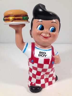 "Bobs Big Boy Hamburger Restaurants 8"" Coin Collector Coin Bank 1999 Shoney's A6"