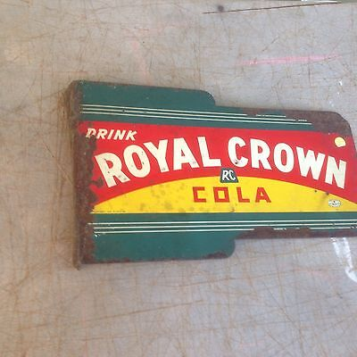 Drink Royal Crown RC Cola 1930's- 1940's Art Deco Flange Sign