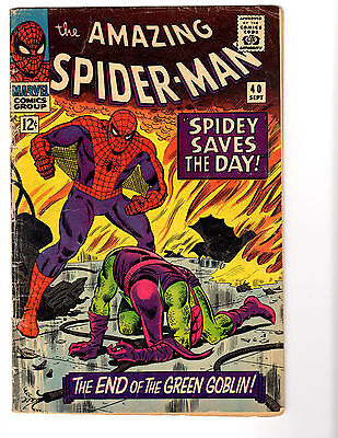 Amazing Spider-Man #40 (9/66) VG - (3.5) Origin Green Goblin! Key Silver Age!