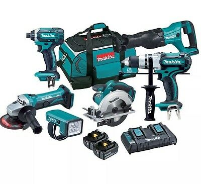 Makita Dlx6050Pt 18V 6 Piece Cordless Combo Kit - Free Delivery