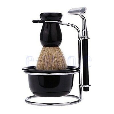 Men's ABS Handle Shaving Brush Razor And Stand Holder ABS Mug Bowl Set WS