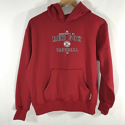 Majestic Boston Red Sox Therma Base Hooded Sweatshirt Size Boys Large Hoodie