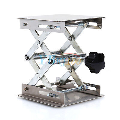 "4""x4"" 100mm Stainless Steel Lab Stand Lifting Platform Laboratory Tool High Q XX"