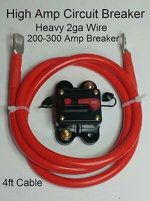 Circuit Breaker 4ft 2ga Winch/ATV/UTV/Tow/Service/Dump Trailer Kit USA Seller