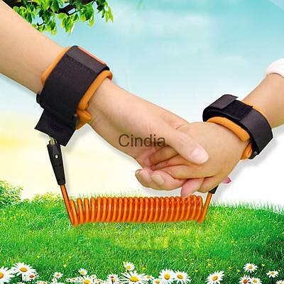 Baby Child Anti Lost Wrist Link Toddlers Safety Harness Strap Rope Leash Walking