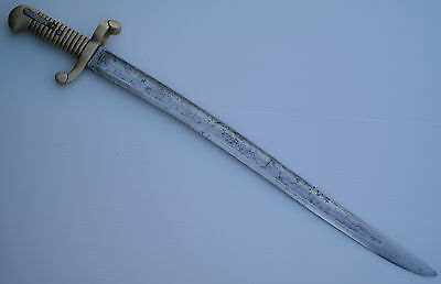 French M1840 Yataghan Blade Brass Guard Crossguard Rare Early Bayonet