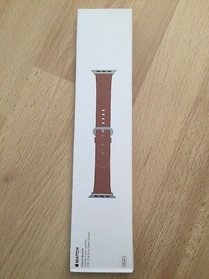 Apple Watch Leather Buckle Strap 38mm OFFICIAL APPLE Classic Buckle Saddle Brown