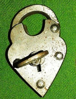 1800's Style Iron  lock And Key .Old Antique Style