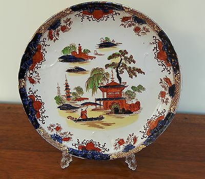 Maling Ming & Chang Oriental Plate Embossed Edge Impressed Triangle Mark c1900