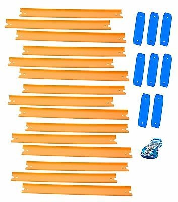 Hot Wheels Track Builder Straight Track with Car - Brand New +  Free Shipping