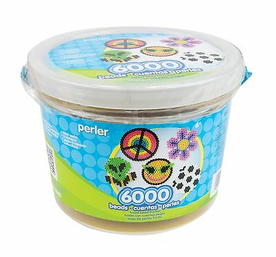 Perler Beads 6000 Count Bucket-Multi Mix - Brand New +  Free Shipping