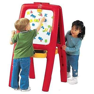 Step2 Easel For Two with Bonus Magnetic Letters/... - Brand New +  Free Shipping