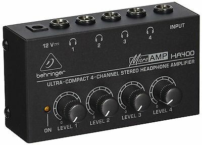 Behringer HA 400 Ultra-Compact 4-Channel Stereo ... - Brand New +  Free Shipping