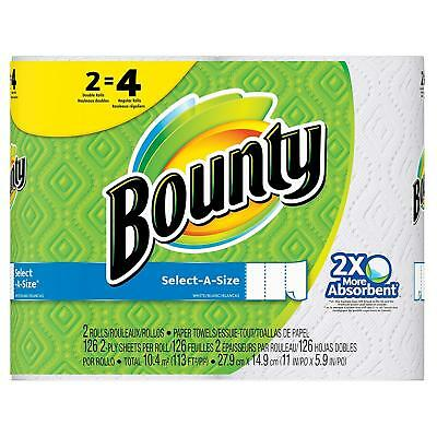 Bounty Select-A-Size Paper Towels White 2 Double... - Brand New +  Free Shipping