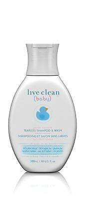 Live Clean Baby  Tearless Shampoo & Wash 300 ml - Brand New +  Free Shipping