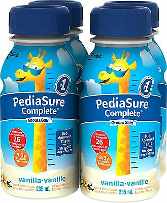 Pediasure Complete Vanilla 235mL Bottle 4-Pack - Brand New +  Free Shipping