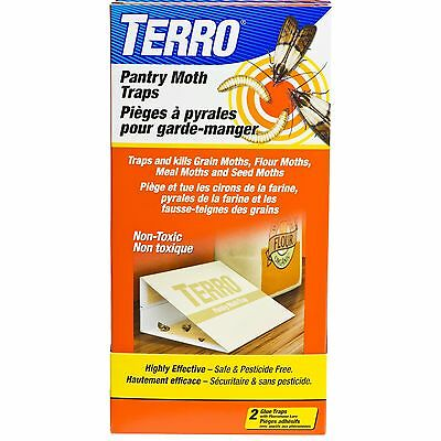 TERRO Pantry Moth Trap 2 Pack T2900CAN - Brand New +  Free Shipping