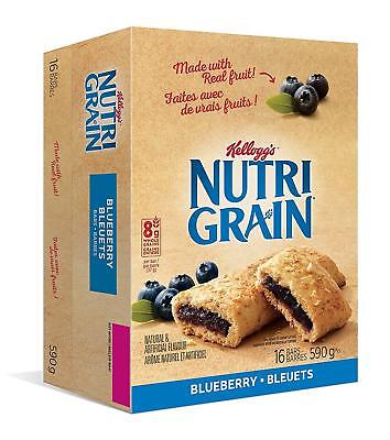 Kellogg's Nutri-Grain Blueberry Flavour 16 bars ... - Brand New +  Free Shipping