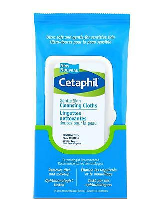 Cetaphil Gentle Skin Cleansing Cloths 25-Count 2... - Brand New +  Free Shipping