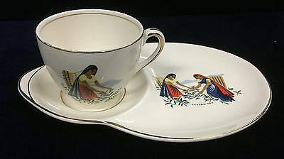 Vintage Alfred Meakin Tea Cup and Saucer Ceylon Tea Tennis Set