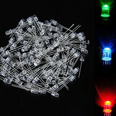 100x 4pin RGB Tri-Color Diffused Common Anode LED Light Emitting Diodes 5mm