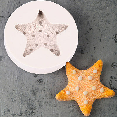 3D Starfish Undersea Silicone Cake Mould Candy Sugarcraft Craft DIY Tool