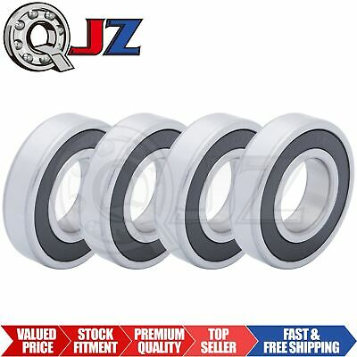 4x 6207-2RS Ball Bearing 35mm x 72mm x 17mm Rubber Sealed Premium RS 2RS NEW