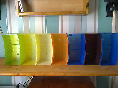 7x Koziol Swing CD Racks - Holds 20 CDs in each(140 CD).