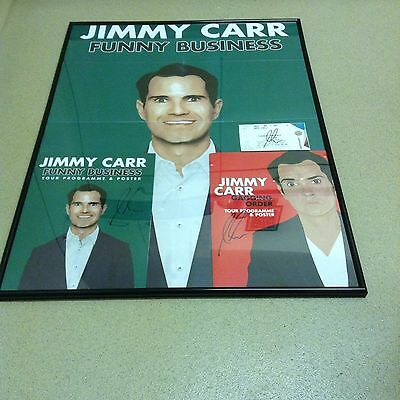 Jimmy Carr Signed 3 Times Large Framed collection
