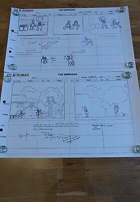 the simpsons crew production story board homer Mario with c.o.a
