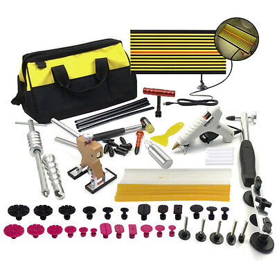 Paintless PDR Hail Dent Repair Slide Hammer Removal Puller Lifter Kits+ Glue Gun