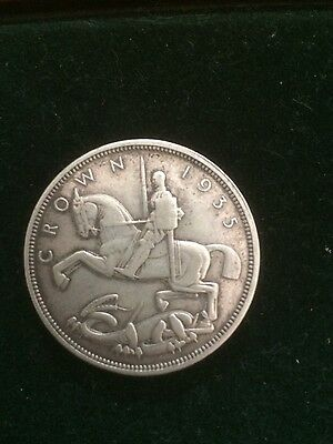 1935 George V Silver Crown In Good Fine Condition