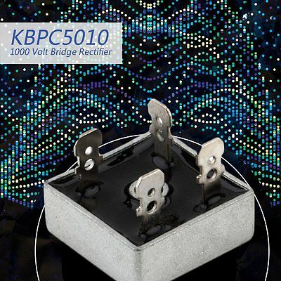 KBPC5010 1000 Volt Bridge Rectifier 50 Amp 50A Metal Case 1000V Diode Bridge CO