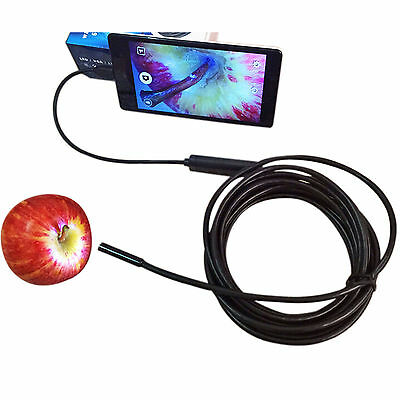 3.5/1.5M 7mm Android Endoscope Waterproof Borescope USB Inspection Lot CO