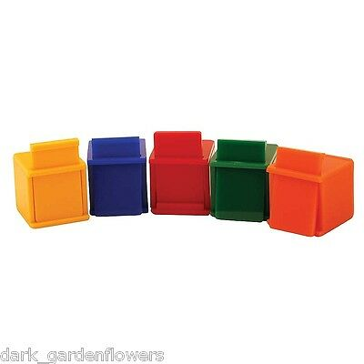 Coloured Cubes Parrot Training Toys Pack Of 5 African Grey Macaw Cockatoo
