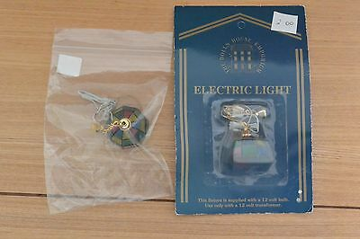 2 x DOLLS HOUSE EMPORIUM COLOURED TIFFANY LIGHTS. 12TH SCALE