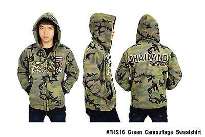 Fairtex Muay Thai Kick Boxing Hoodie Jacket Camouflage  S, M, L, Xl Aus Stock