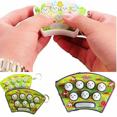 Color Random Fight Novelty Toy Handheld Whac-A-Mole Finger Game Mini Hamster