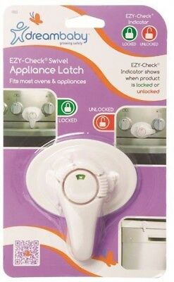 Dreambaby Ezy-Check Swivel Appliance Latch Oven Washer Dryer Baby Safety Lock