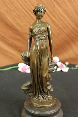 Hestia Goddess of the Hearth Pure Bronze Sculpture Greek Mythology Hot Cast Gift