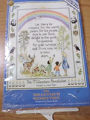 "Susan Ryder ""the Millennium Resolution ""heritage "" Cross Stitch Craft Kit Unused"