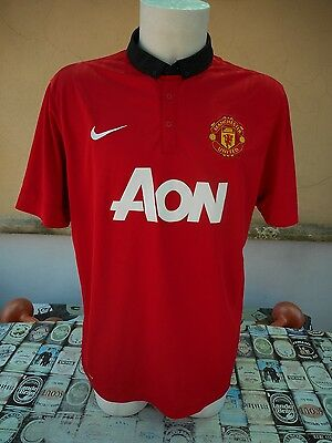 Maglia Calcio Manchester United 2013/14 Home Nike Xl Shirt Trikot Maillot Jersey