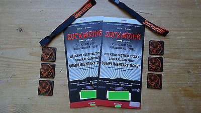 2x Rock am Ring Tickets 2017 3-Tage - General Camping  - EINMALIGES PACKAGE