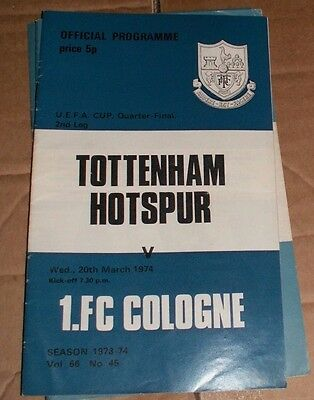 1973/74 Tottenham Spurs vs Cologne UEFA