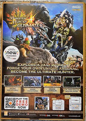 Monster Hunter 4 - Official Rare A2 Promotional Poster (Not A Game)