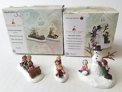 Dept 56 Seasons Bay - The First Snow & Fun in the Snow In Original Boxes
