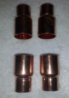 "3/4"" x 1/2"" Copper FITTING Reducer Coupling Solder Sweat Pressure. New. Lot of 4"