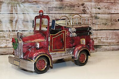 Home Interiors Musical Fire Engine #56035 Plays The Star-Spangled Banner EUC